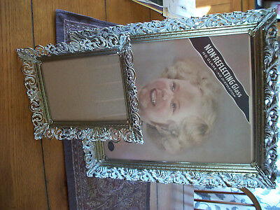 GOLD PLATED BRASS or METAL FILIGREE PICTURE FRAMES 11x14 + 5x7 NICE