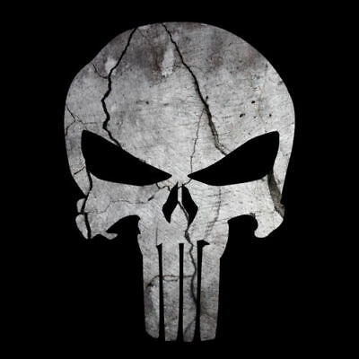 Punisher Skull Cracked Rock Stone American Flag Sticker Decal Sniper Made In Usa