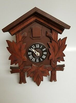 Vintage HUBERT HERR  Germany BLACK FOREST CUCKOO CLOCK  - For Repair