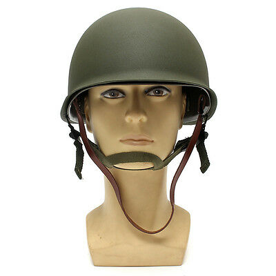 WW2 USA Military Steel ABS M1 Helmet WWII Outdoor Army Equipment New