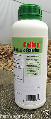 Gallup home and garden 1lt Glyphosate strong weed killer amatuer use label
