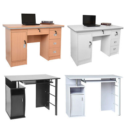 Computer Desk PC Table with Drawers Home Study Office Workstation Furniture