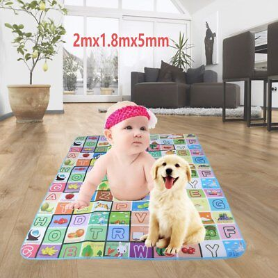Baby Kids Play Mat Floor Rug Picnic Cushion Crawling Mat Travel 2mx1.8mx5mm BG