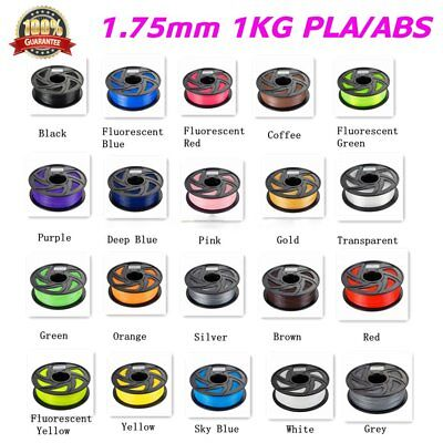 3D Printer Filament ABS PLA 1.75mm 1kg/roll colours Engineer Drawing Art HA