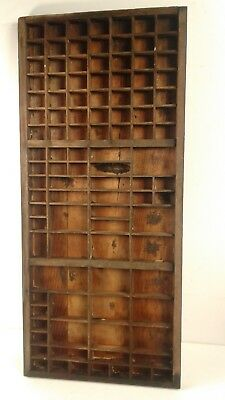 Vintage/Retro wooden Printers letterpress tray/drawer shadowbox CAN POST #10a