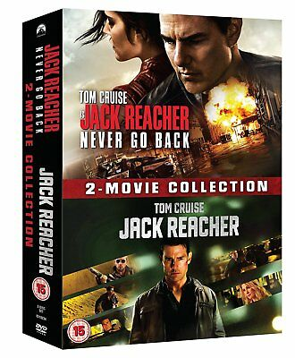Jack Reacher 1 + 2 Never Go Back 2 Movie Collection New sealed DVD Box Set