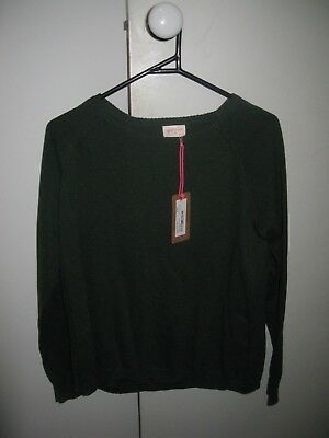 Gorman Size 08 Winter Stacey Jumper Olive Green