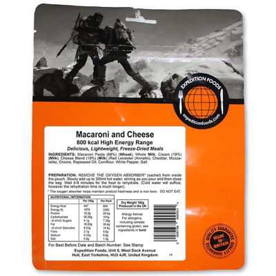Macaroni and Cheese - High Energy Range 800 kcal - Expedition Foods