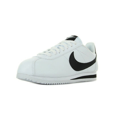 Chaussures Baskets Nike femme Classic Cortez Leather taille Blanc Blanche  Cuir da649b71259d