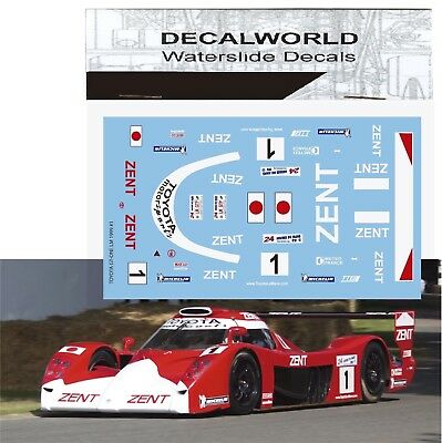 Waterslide Decals Toyota Gt-One Lm 1999 #1 Calcas