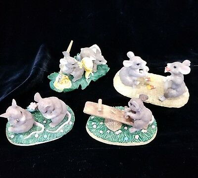 Charming Tails Lot of 4 - PAINTING, CANDY CORN, TEETER TOTTER, I'M SO SORRY