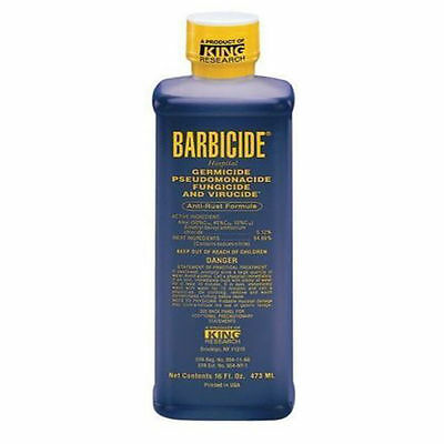 Barbicide Disinfectant Concentrate Solution, Anti Rust Formula GERMICIDAL - 16Oz