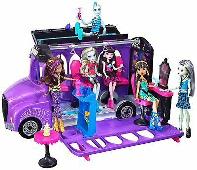 New Official Monster High Deluxe Bus