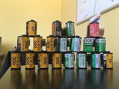 Expired 35mm Film Lot Various Brands