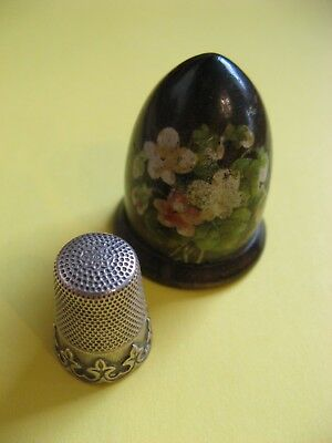 Vintage Silver Thimble Boxed Collectable Rare Vgc