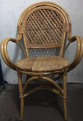 Vintage Retro Original 80s Wicker U0026 Bamboo Chairs