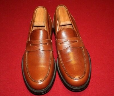 "Aquatalia ""Neil"" Brown Penny Loafers Size 9.5 M NEW! $395"