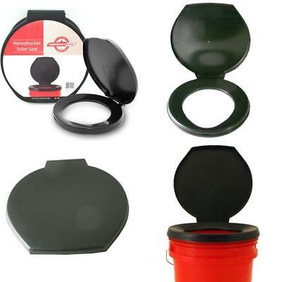 Emergency Snap On Toilet Seat &Amp; Cover Portable For Bucket Outdoor Camping Bl