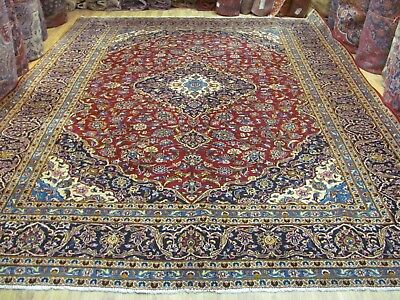 A FANTASTIC OLD HANDMADE KASHAN PERSIAN CARPET (390 x 290 cm)