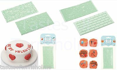 Kitchen Craft Set of 2 Fondant Icing Rolling Embossing Design Sheet Mat