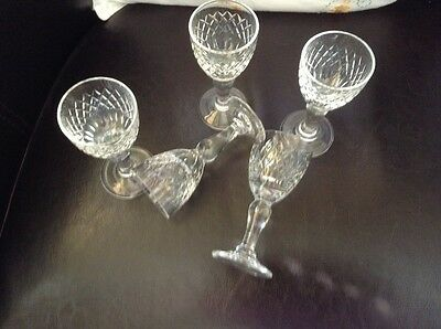 5 SUPERB ROYAL BRIERLEY CRYSTAL  LIQUEUR / SHOT GLASSES.IMMACULATE 1st QUALITY