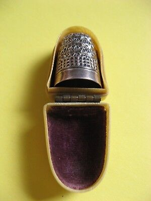 Vintage Silver Thimble Boxed Rare Collectable Vgc