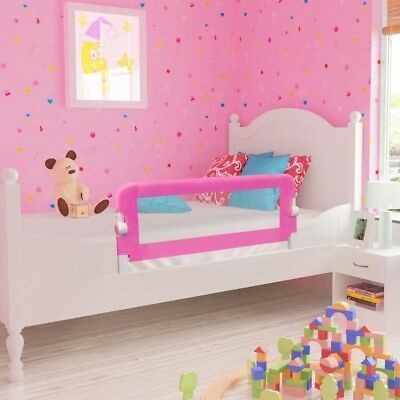 Bed Guard Toddler Safety Childs Bedguard Baby Folding Mesh Rail 102cm Pink Kids