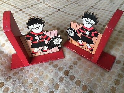 Dennis The Menace and Gnasher Vintage Book Ends Beano