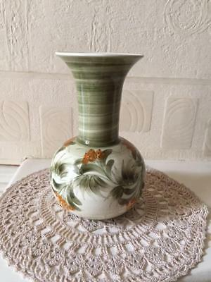 Vintage Jersey Pottery Vase Hand Painted Flowers