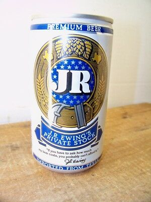 JR Ewing Beer Can Empty Vintage 1980