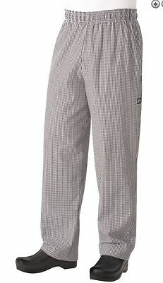 Chef Works Pants Black and White Check 5X