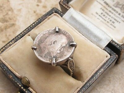 Vintage Antique Sterling Silver 925 Three Pence Coin Ring