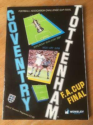 Official FA Cup Final Programme 1987 Tottenham Hotspur Coventry City (Wembley)