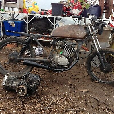 honda cg 125 cafe racer project with spare engine