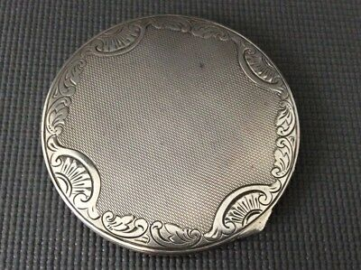 Antique Silver Compact / Pill Box/ Vanity / Continental German / 835 Sterling