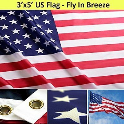 American Flag 3'x5' FT USA US Stars Stripes Nylon Brass Grommets United States