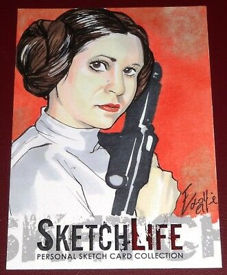 Princess Leia Sketch by Elfie Lebouleux - Sketchlife Promo Pack ReddLife (2012)