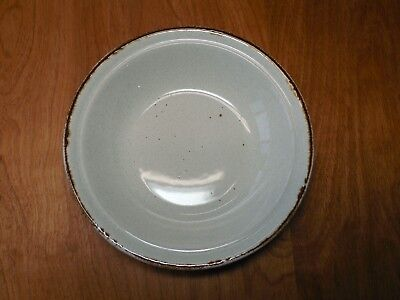 """JCPenney OATMEAL Soup Cereal Bowl 7 1/2"""" Brown edge speckled 1 ea 8 available"""