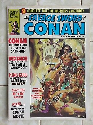 Savage Sword of Conan UK Monthly # 15 incl. 3 page feature on first Conan film.