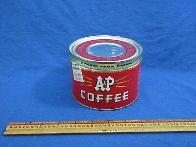Vintage A & P Tin Coffee Can Percolator Grind - Advertising