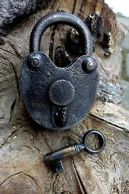Antique Padlock with one key no mark F.Sengpiel' working order Made in Germany *