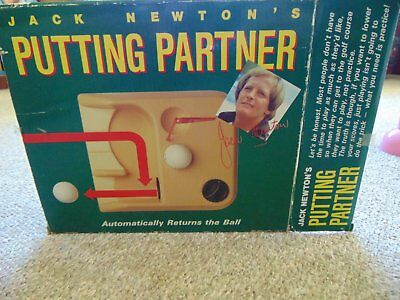 1970s Vintage Golfer Jack Newtons Putting Partner Golfing Aid Boxed Never Used