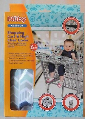 Nuby Shopping Cart Cover & High Chair Cover Unisex New In The Box Adorable