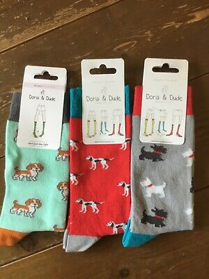 "Doris /& Dude Bamboo//Organic Cotton Socks /""Beach Theme/' Size 3-7"