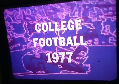 Original 16mm Color Film College Football 1977 Highlights