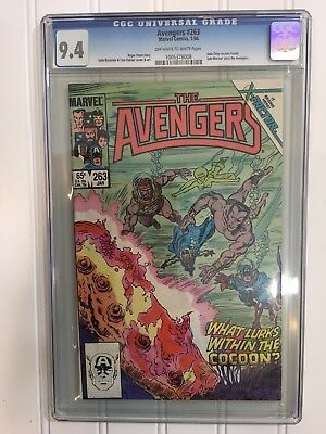 The Avengers #263 Jean Grey Cocoon Found CGC Graded 9.4