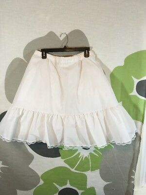 Crinoline Petticoat Womens Small Knee Length White