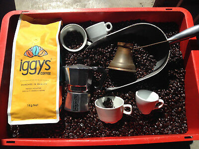 3Kg IGGYS COFFEE BEANS (8AM EXPRESS) PNG ARABICA COFFEE BEANS ESPRESSO DELIVERED
