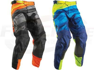 Thor MX Pulse Velow Pant Black/Orange & Navy/Lime ATV MX Dirt Bike Riding Gear