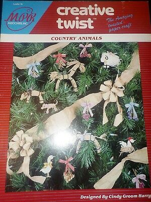 Creative Twist Craft Leaflet, Country Animals 1988 Cow Sheep Horse Piglet Goose